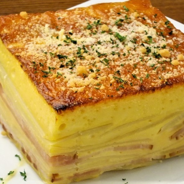 May queen and bacon spanish omelette