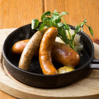 Grilled sausage with oven