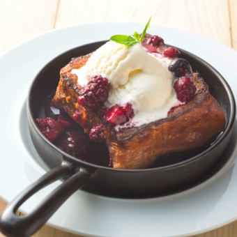 French toast of Danish bread