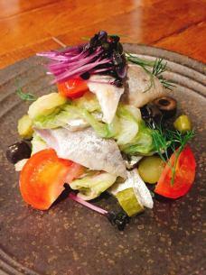 Takasaga cabbage and sardines marinated