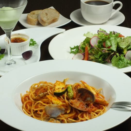 ◆ «Lunch» Pasta set (5 dishes) 1480 yen