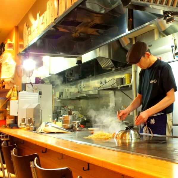 Special seat to taste the presence of teppan-yaki presence! Enjoy the magnificent teppan-yaki in front of you.
