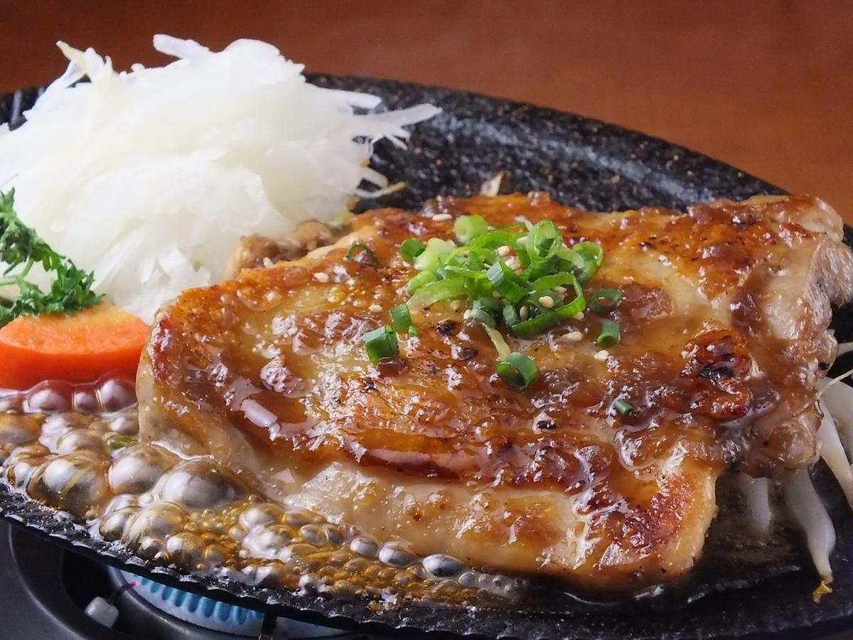 Grilled chicken steak set