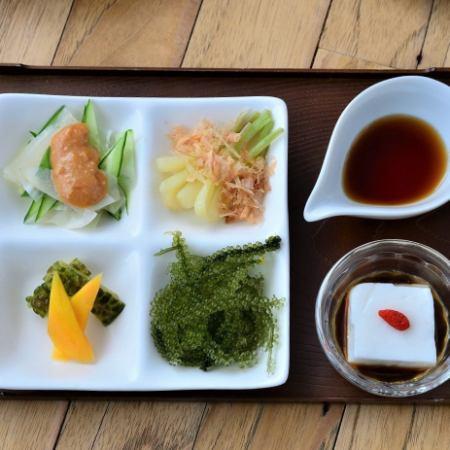 【定番】沖縄前菜の盛り合わせ(5種)