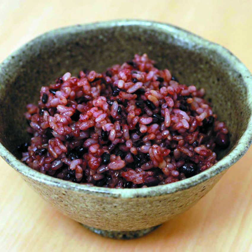 Old purple rice