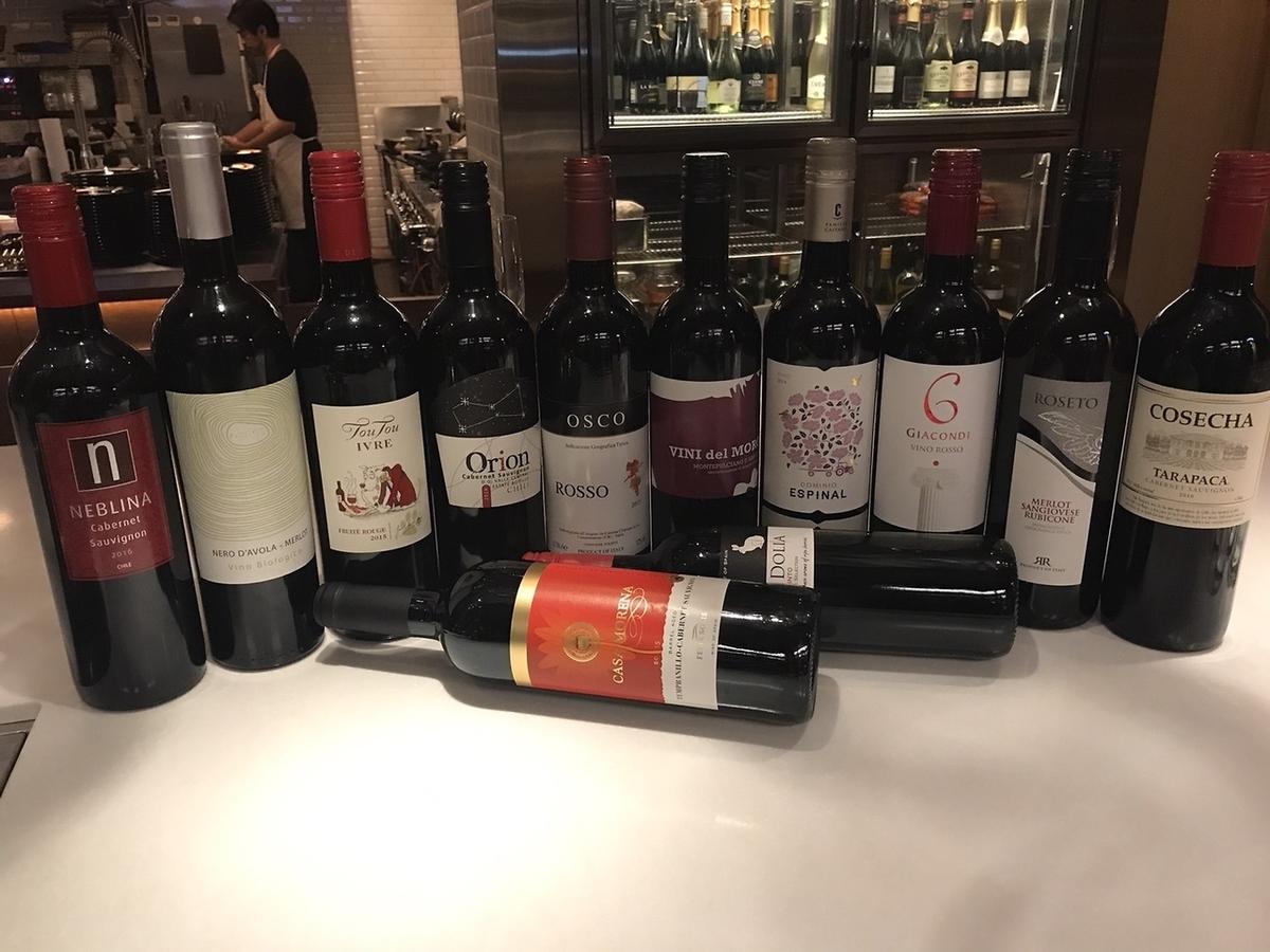 每种红酒和白葡萄酒40多種