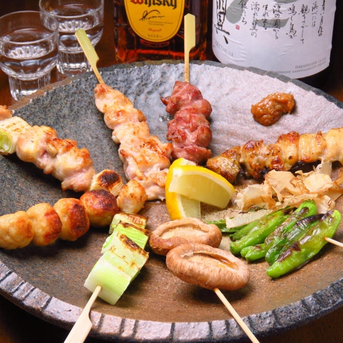 国産鶏の串焼