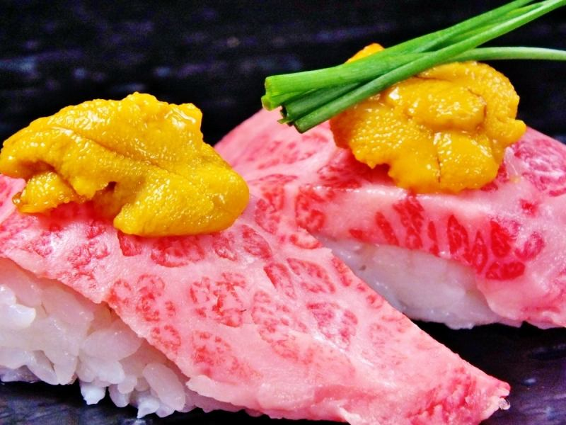 【Limited Time】 Murakami Ushi Supreme Calvi and Uni no luxury broiled sushi usually 1,200 → 300 yen