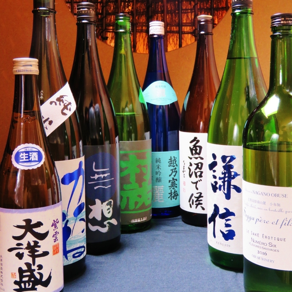 Various courses are all-you-can-drink sake as well!