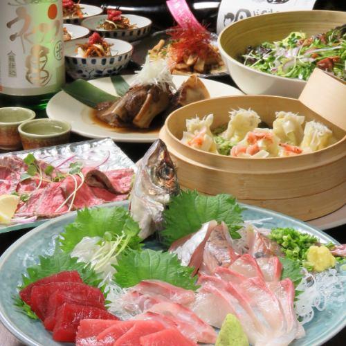 県外からお越しの方をもてなすにも宴会にも◎静岡グルメを味わうコース4500円!