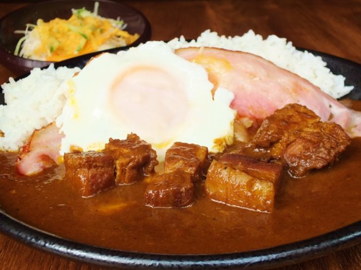 流利[自制咖喱猪肉(沙拉)熏肉和鸡蛋馅料♪1月9日盛大开幕♪3天红烧咖喱和牛舌,各种网站的烤肉!