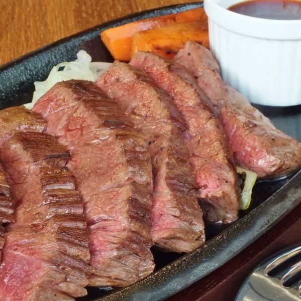 [牛肉裙烤牛排(牛排)]令人兴奋的烤架♪裙牛排150克