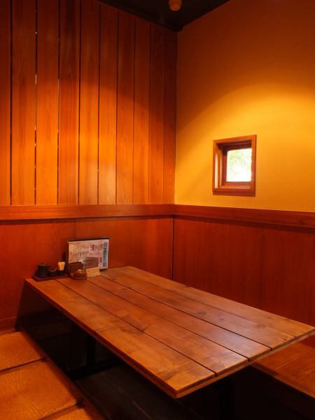Warm atmosphere that warmth of tree is felt inside shop.Space where relaxing relaxation is available with Osaki private room and digging tatami mat.※ Bonenkai-kai reservations are accepted! ♪ worry if it's a big deal even in large numbers