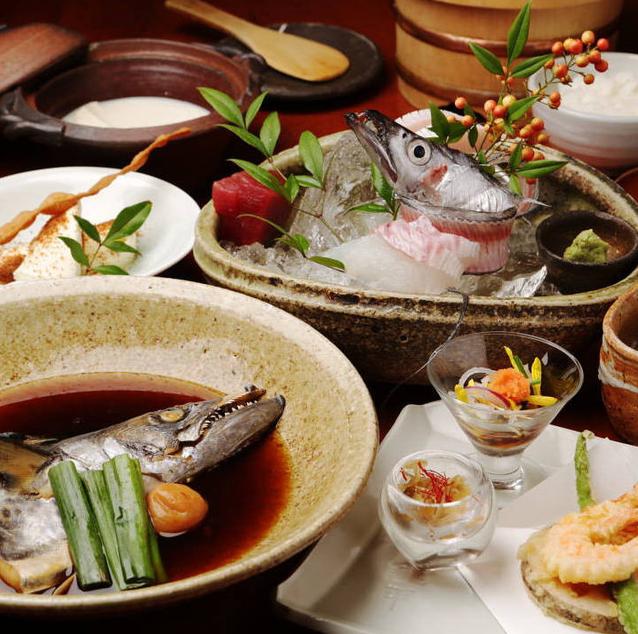 銀平系列ならではのこだわりの魚料理・日本料理を堪能♪贅を尽くした美食♪