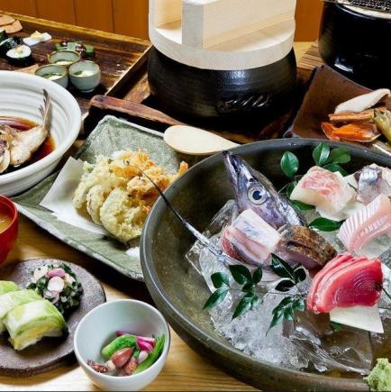 【ランチの特別な会に】贅沢な旨味たっぷりの高級魚『紀州梅くえ鍋コース』7品12,000円→9,000円