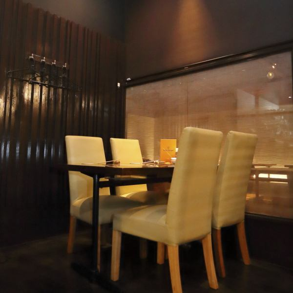 【Half single rooms · Private room】 In the innovative design shops a lot of mood ♪ You can relax relaxingly in a calm atmosphere.Bōnenkai New Year party welcome party Farewell party launch Hospitality birthday anniversary drinking party dinner party Private room enriched convenient for various scenes ◎