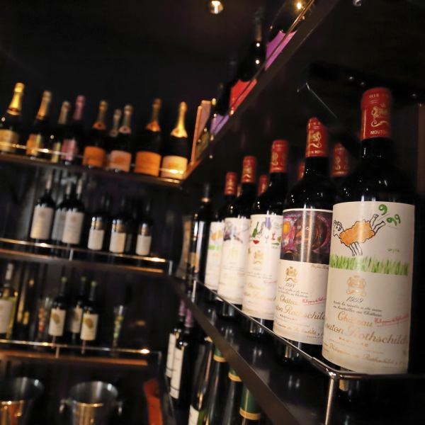 """[대형 와인] 와인 좋아하게는 견딜!? 와인 완비.전임 소믈리에가 좋아하는 하나를 만날 도와드립니다 ^^ ♪ 쓰쿠바 역 도보 5 분, 츠쿠바 데이즈 다운 B1F의 은신처 다이닝 포도주를 즐기는 가게 창작 샤브샤브와 숯불 요리 """"매듭"""""""