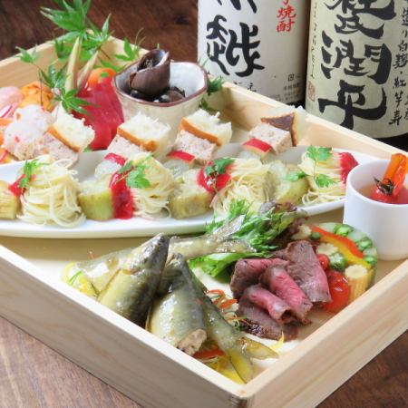 Shabu-Sato with all you can drink 5000 yen (platter) course
