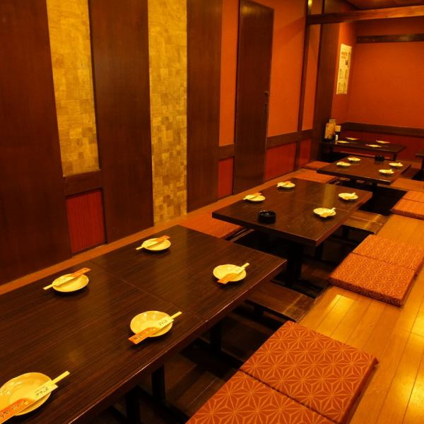 Banquet private room for 8 to 20 people.Since the digging of your stand type, leisurely stretched out foot Masu fun Me.