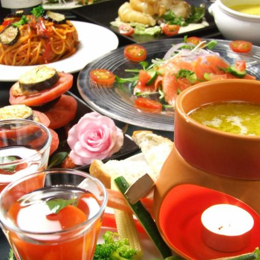 Time Limited Sun - Wood Course ★ Popular! Specialty Bagna cauda with 9 items in total 9,500 yen (3500 yen including drinking-up tax)