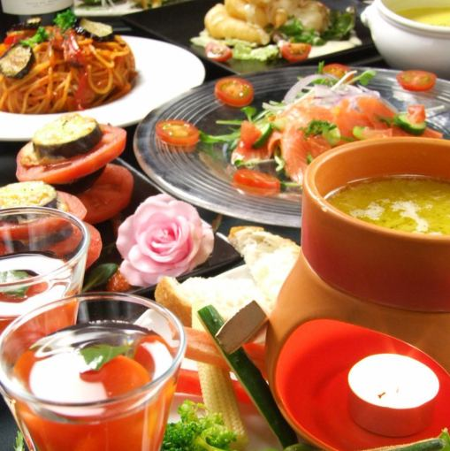★ Very popular! Special thanks to tomato with Banya Cowder special tomato course 9 items Drinks for sale 4400 yen ⇒ 3500 yen (tax included) !!