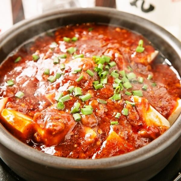 Gotta love this spicy! [Pot Sichuan Mabo tofu]