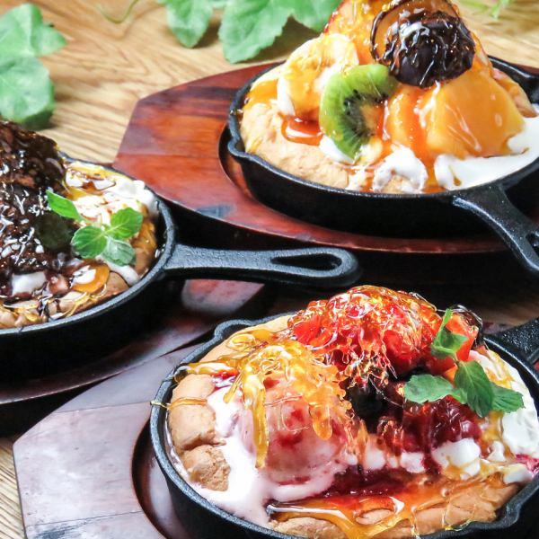 【新♪】蓬松美味!新出现的流行甜煎饼☆巧克力/草莓/水果各550日元