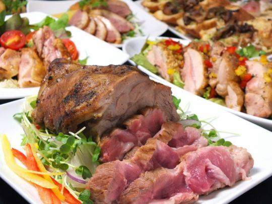 【お得なコース】圧巻の肉盛りコース[120分80種飲放]3850円