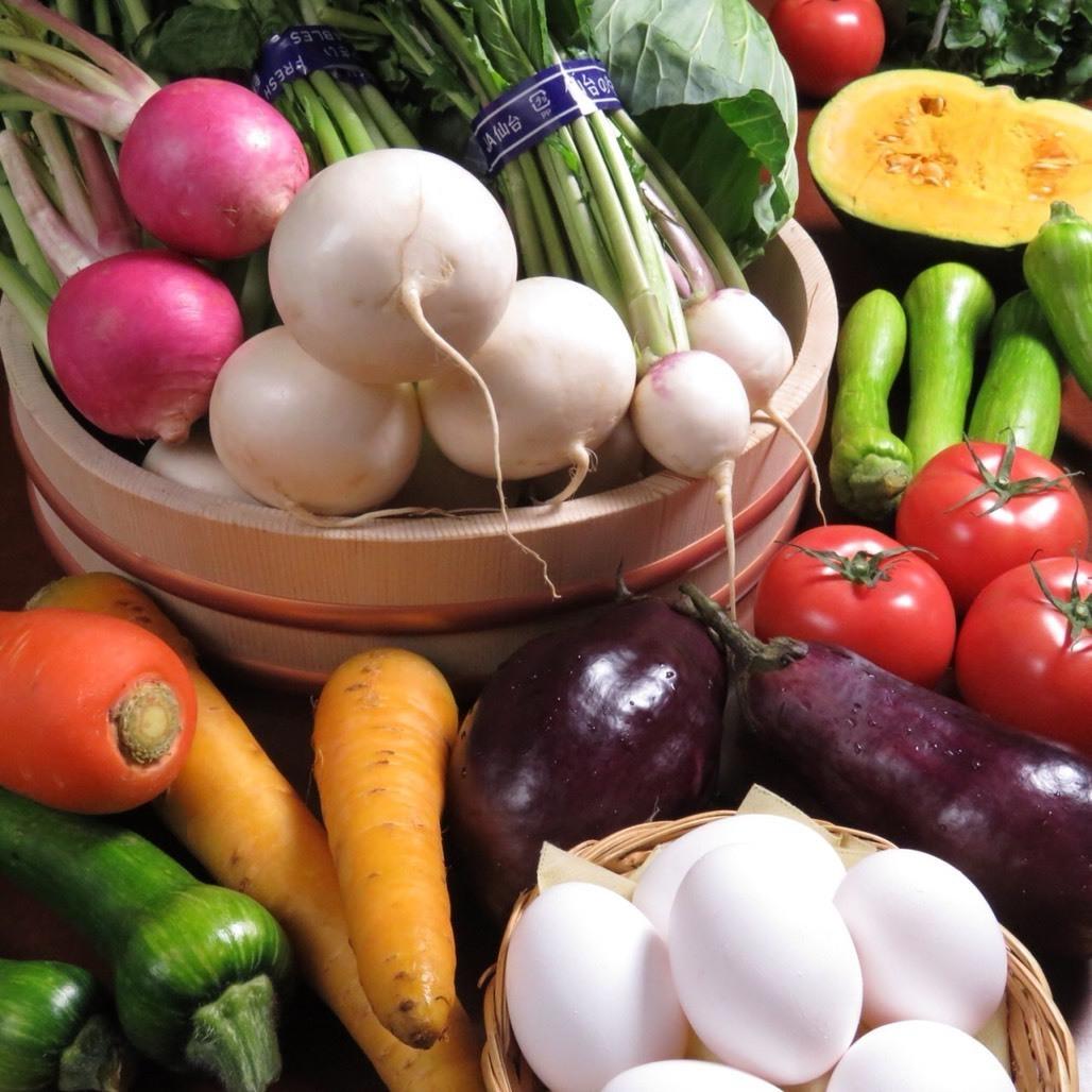 시내에서 채취 한 신선한 야채 ☆ 甘く 드문 야채도 먹을 수있는