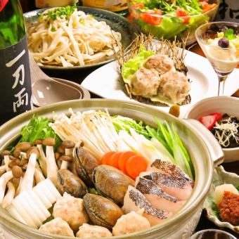All seven goods 120 minutes with all you can drink ☆ Seafood seafood pot of all over the country or beef cattle sushi kimchi hot pot course 【3,800 yen】