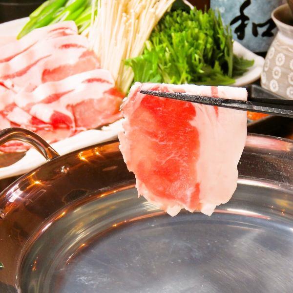 Okinawan black pig pigeon Ahoo Yanbare island pork loin's shabu-shabu