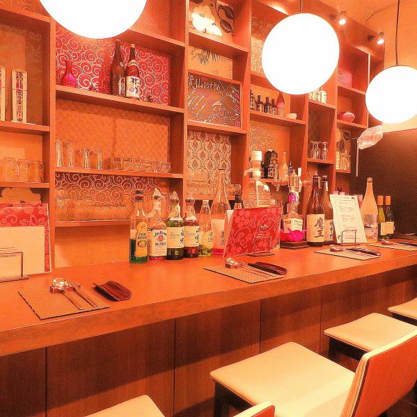 Counter seats are recommended for guests with meals.【Okayama / Korean Cuisine / Izakaya / All you can drink / Cheese Duckcarbie / Samgyeopsal / Samgyetang / Girls Association】