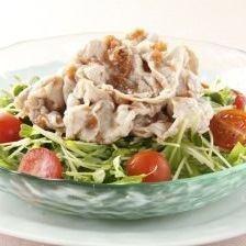 Black pork shabu-shabu sesame creamy salad