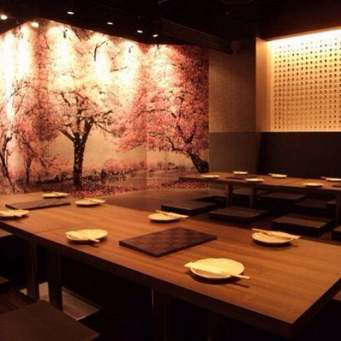 Group guides in private room! Warm wooden modern space can be used widely from private drinking party to company party ☆ ☆ a good time in an atmosphere preeminent ... ♪