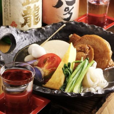 The taste of the material lives, Oden of the Oden shop