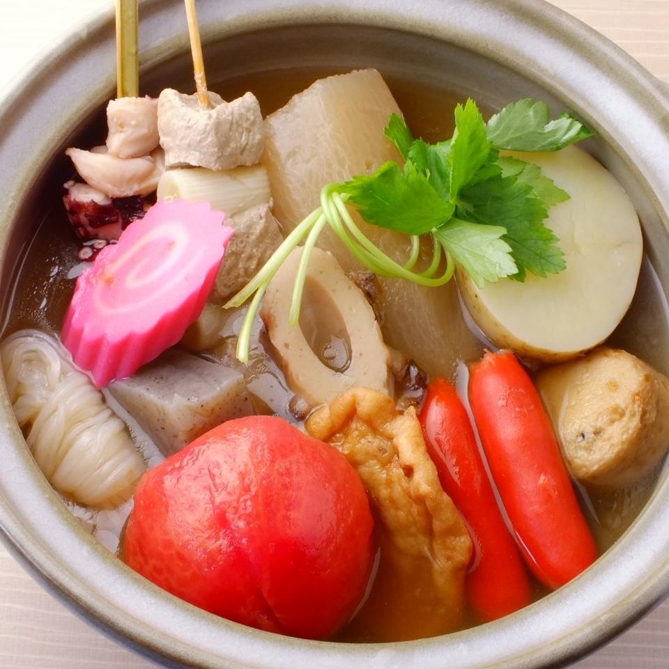 안심하는 맛의 가나자와 바람의 부드러운 오뎅.