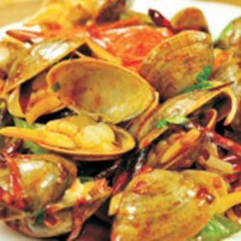 Stir-fried clams clams