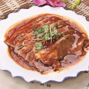 Stir-fried thin-cut lamb meat / boiled thin-cut beef