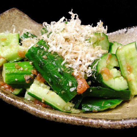 Cucumber pickled in one / moromi miso cucumber / plum dressed cucumber