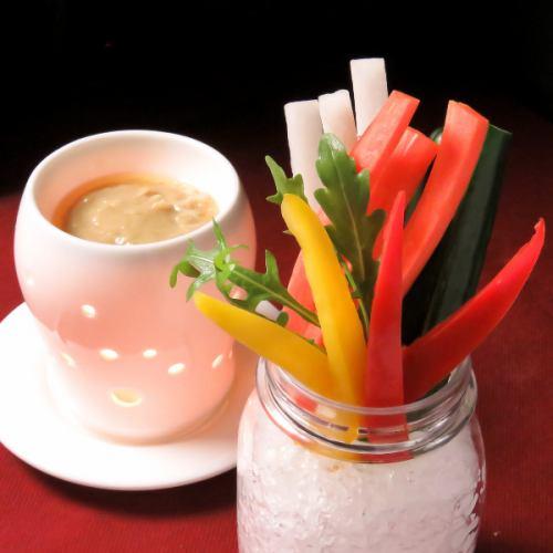 彩りスティック野菜 温製バーニャカウダ