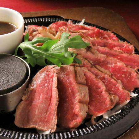 ぶ厚い牛サーロインステーキ 300g