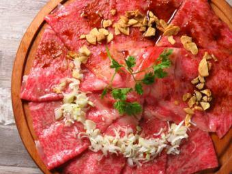 宫崎牛肉牛腩生牛肉片
