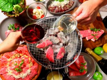 ★ 120 minutes All you can drink with Yakiniku All you can eat plum women 3780 yen / male 4280 yen (excluding tax)