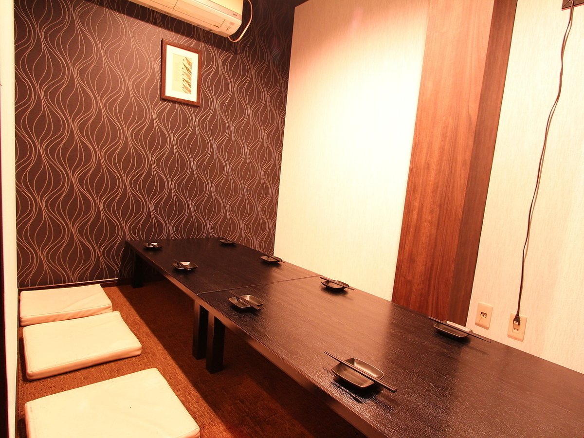 It is a movable Dutyu private room for 5 to 8 people who renewed.