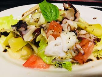 Marinated octopus and island climate