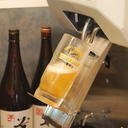 セルフ式でビールも飲み放題!