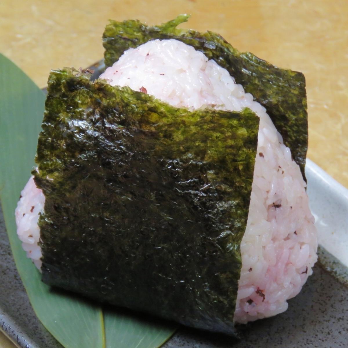 饭团(梅/鲑鱼/明太子)(1 piece)