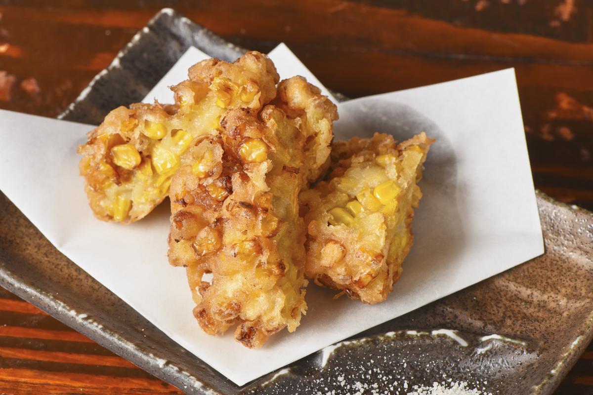 Corn tempura