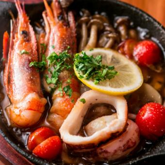 Ahijo大虾和蘑菇