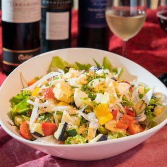 彩色的蔬菜驼峰沙拉